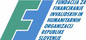 Logotip Fundacije za financiranje invalidskih in humanitarnih organizacij RS